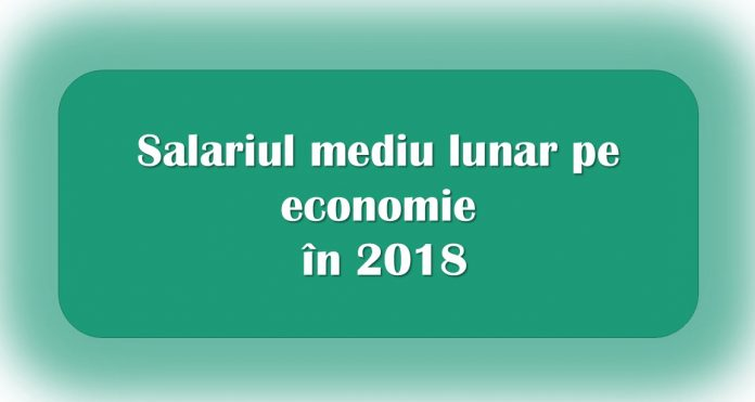 Salariu mediu lunar în 2018